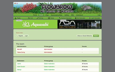 Screenshot of Team Page flowgrow.de - The team - Aquascaping - Aquarium - Wasserpflanzen - Flowgrow - captured Oct. 26, 2017