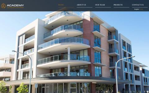 Screenshot of Home Page academycd.com.au - Academy Construction and Development |          Home - captured Feb. 5, 2016