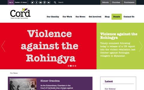 Screenshot of Press Page cord.org.uk - Cord | News - captured May 22, 2017