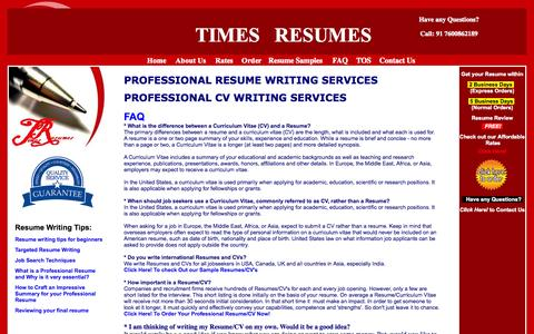 Screenshot of FAQ Page timesresumes.com - Times Resumes - Professional Resume Writing Services In Vadodara India,Professional CV Writing Services In Vadodara India - captured Sept. 24, 2014