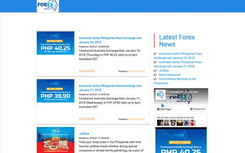 News - ForexWorld Australia - Send Money to the Philippines