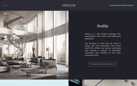 Screenshot of About Page verzun.com - Finest Properties Around The World - Verzun - captured Feb. 17, 2016