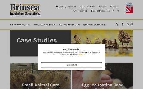 Screenshot of Case Studies Page brinsea.co.uk - Case Studies - Brinsea - captured Oct. 6, 2018