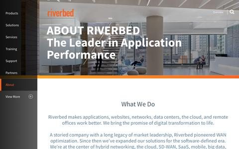 Screenshot of About Page riverbed.com - Overview | Riverbed | US - captured July 3, 2016