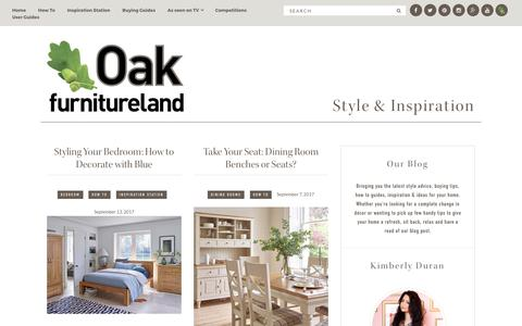 Screenshot of Blog oakfurnitureland.co.uk - The Oak Furniture Land Blog - Style and Inspiration Advice for your Home - captured Sept. 15, 2017
