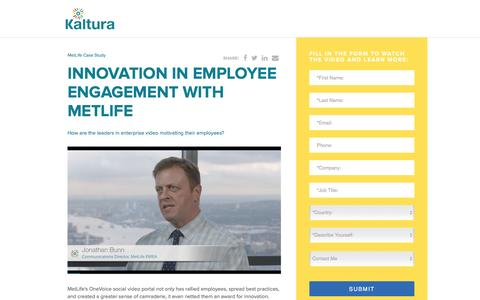 Screenshot of Landing Page kaltura.com - Kaltura Video Platform - captured Nov. 15, 2016