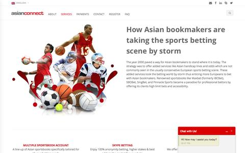 Screenshot of Services Page asianconnect88.com - Asianconnect Betting Brokerage ibcbet sbobet pinnacle sports - captured Sept. 15, 2016