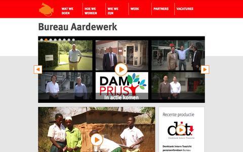 Screenshot of Home Page bureauaardewerk.nl - Bureau Aardewerk - Creatieve Concepten & Cross Media Projecten - captured Sept. 30, 2014