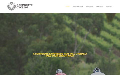 Screenshot of Home Page corporatecycling.cc - CORPORATE CYCLING - captured Dec. 12, 2015