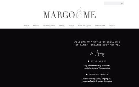 Screenshot of Signup Page margoandme.com - MM Insider Exclusive Content Direct Inbox Newsletter   Margo & Me - captured Oct. 24, 2018