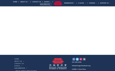 Screenshot of Services Page chicagochinatown.org - Chicago Chinatown Chamber of Commerce - captured Sept. 27, 2018