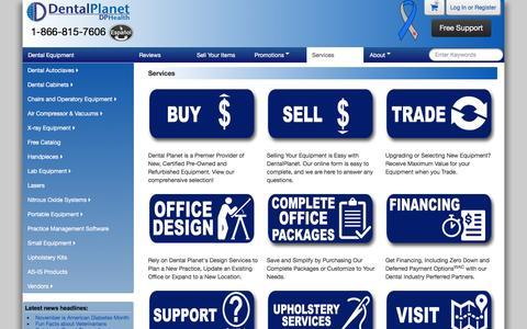 Screenshot of Services Page dentalplanet.com - Services : New and Refurbished Dental Equipment at Affordable Prices - Dental Planet - captured Nov. 23, 2016