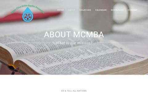 Screenshot of About Page mcmba.net - ABOUT – MCMBA - captured Oct. 10, 2017