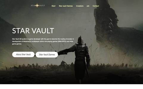 Screenshot of Home Page starvault.se - Start - Star Vault - captured Oct. 20, 2018