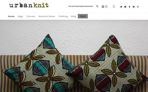 Screenshot of Home Page urbanknit.com - Urbanknit Unique and Funky Handmade African Fashion Accessories - captured Nov. 17, 2018