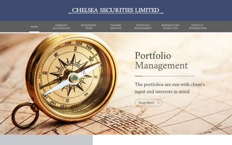 Screenshot of Home Page Menu Page chelsea-securitieshk.com - CHELSEA SECURITIES LIMITED - captured July 28, 2017