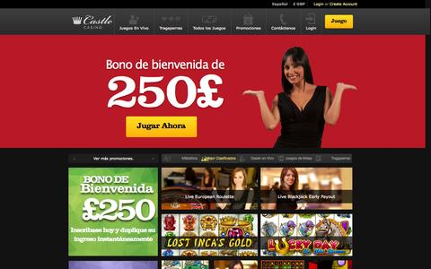 Screenshot of Contact Page castlecasino.com - Castle Casino | Casino En Vivo y Casino En Línea | 250€ Gratis - captured Sept. 19, 2014