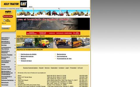 Screenshot of Landing Page kellytractor.com - Equipos y Máquinas de Pavimentación Mauldin en Kelly Tractor - captured Aug. 12, 2016