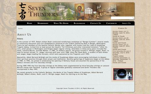 Screenshot of About Page seventhunders.org - About Us | Seven Thunders - captured June 14, 2016