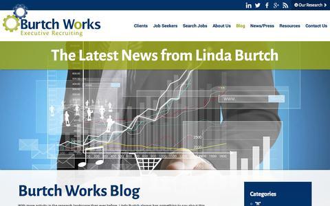 Screenshot of Blog burtchworks.com - Executive Placement Firms | Burtch Works Blog - captured Oct. 29, 2014