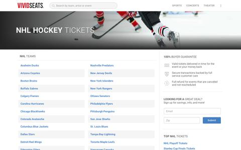 NHL Hockey Tickets | Vivid Seats