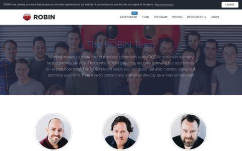 Screenshot of Team Page robinhq.com - Meet the team | ROBIN - captured Sept. 28, 2018
