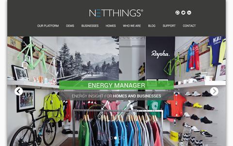 Screenshot of Home Page netthings.co.uk - Homepage - NetThings - captured Sept. 30, 2014
