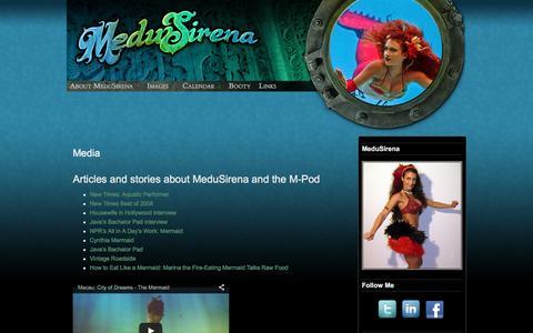Screenshot of Press Page medusirena.com - Media - MeduSirena - captured Jan. 9, 2016