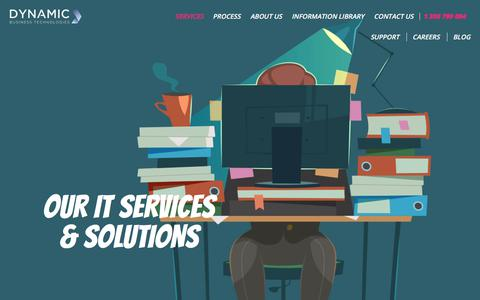 Screenshot of Services Page dbtechnologies.com.au - Managed IT Services & Solutions - Dynamic Business Technologies - captured Oct. 13, 2017