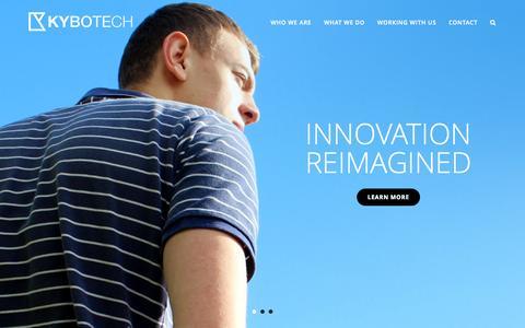 Screenshot of Home Page kybotech.co.uk - Kybotech Ltd | Innovators since 2000 - captured Sept. 30, 2014