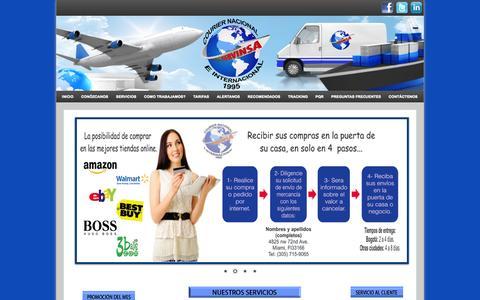 Screenshot of Home Page servinsaltda.com - SERVINSA - captured Oct. 3, 2014