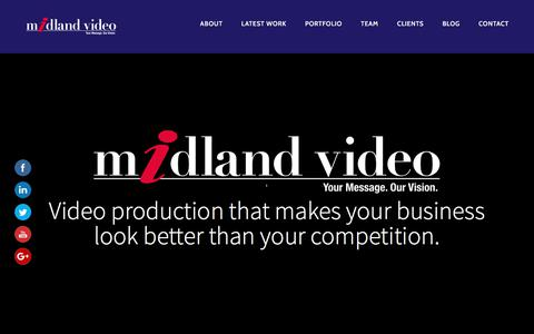 Screenshot of Home Page midlandvideo.com - Midland Video Productions Corporate Video Production Services - captured Oct. 18, 2017