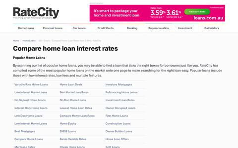 2017 Deals – Compare Home Loan Rates from 3.40% | RateCity