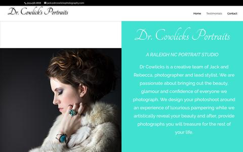 Screenshot of Home Page portraitphotographyraleigh.com - Portrait Photography Raleigh NC - captured July 6, 2018