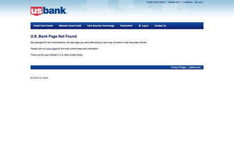 U.S. Bank - Page Not Found