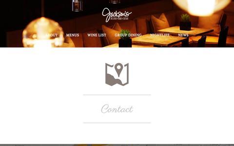 Screenshot of Contact Page jacksonsbistro.com - Contact - Jackson's Bistro Bar & Sushi Restaurant, Tampa, Fl - captured Nov. 3, 2014