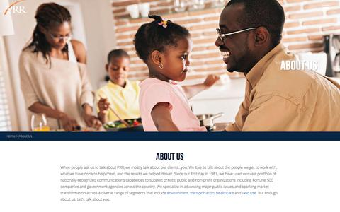 Screenshot of About Page prrbiz.com - About Us | PRR Biz - captured Oct. 12, 2016