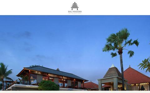 Screenshot of Contact Page baliniksoma.com - Contact – Bali Niksoma Boutique Beach Resort - captured Oct. 5, 2018