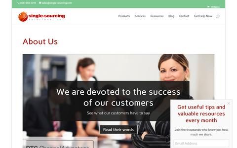 Screenshot of About Page single-sourcing.com - About Us - Single-Sourcing Solutions, Arbortext consulting, training, software - captured Oct. 2, 2018