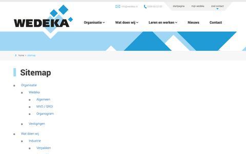 Screenshot of Site Map Page wedeka.nl - Sitemap – Wedeka - captured Oct. 19, 2018