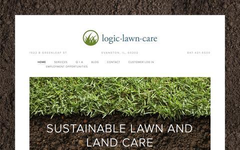 Screenshot of Home Page logiclawncare.com - Logic Lawn CareLogic Lawn Care - captured June 17, 2015