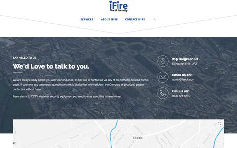 Screenshot of Contact Page ifireuk.com - Contact - iFire UK Limited - captured Oct. 15, 2017