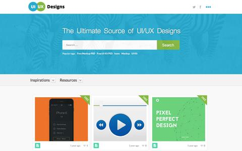 Screenshot of Maps & Directions Page uiuxdesigns.com - UI/UX Designs » A Complete User Interface Design Source - captured Feb. 1, 2016