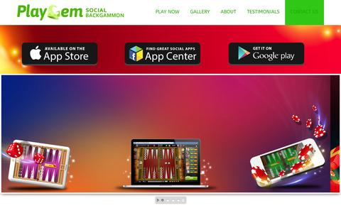 Screenshot of Home Page playgem.co - Playgem free backgammon - captured Sept. 30, 2014