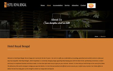 Screenshot of About Page hotelroyalbengal.com - Budget Hotels in Bolpur - captured July 23, 2018