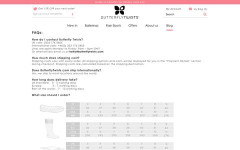 Screenshot of Jobs Page FAQ Page Terms Page butterflytwists.com - Help - captured Oct. 23, 2014