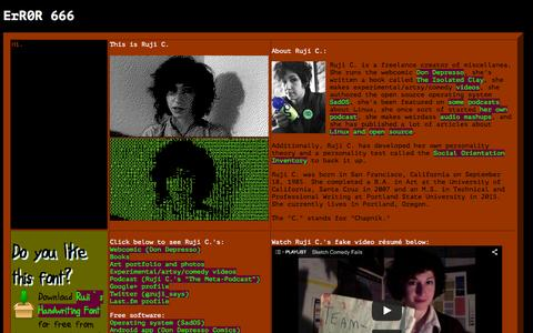 Screenshot of Home Page rujic.net - Ruji C.'s Stuff - captured Oct. 12, 2015