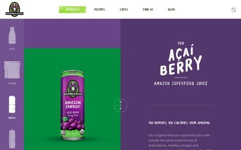 Screenshot of Products Page sambazon.com - Products Ń Sambazon - captured Dec. 4, 2015