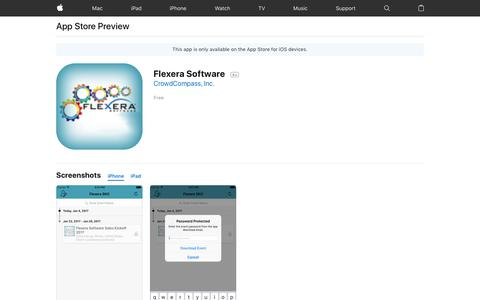 Flexera Software on the App Store