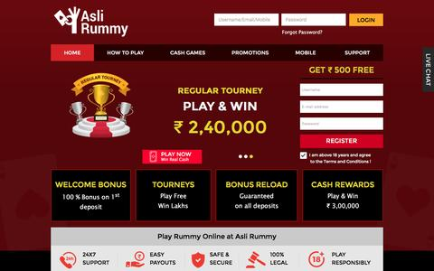 Rummy Online – Play Free Indian Rummy 13 Card Games at AsliRummy